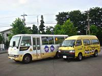 安全設計、かわいい絵の幼児専用バス